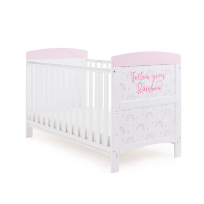Obaby Grace Inspire Cot Bed - Rainbow