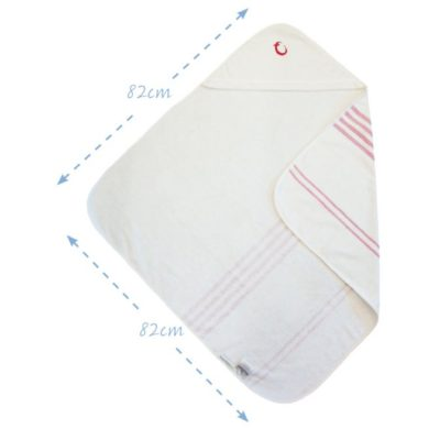 Hippychick Hammam Hooded Towel - Red Stripe