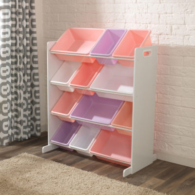 Kidkraft Sort it and Store it Bin Unit - White Pastel