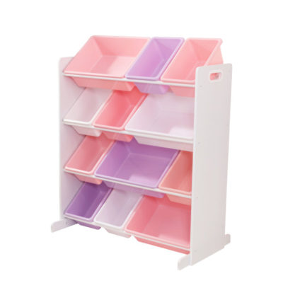 Kidkraft Sort it and Store it Bin Unit - White Pastel1