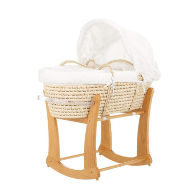 Obaby Rocking Moses Basket Stand - Country Pine 2