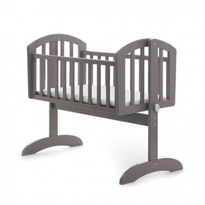 Obaby Sophie Swinging Crib and Mattress - Taupe Grey