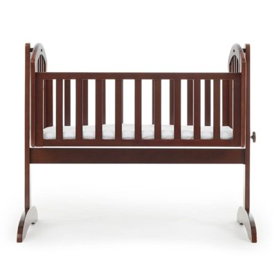 Obaby Sophie Swinging Crib and Mattress - Walnut 2