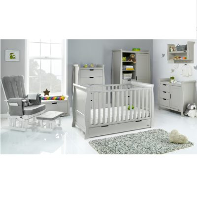 Obaby Stamford Classic 7 Piece Room Set - Warm Grey