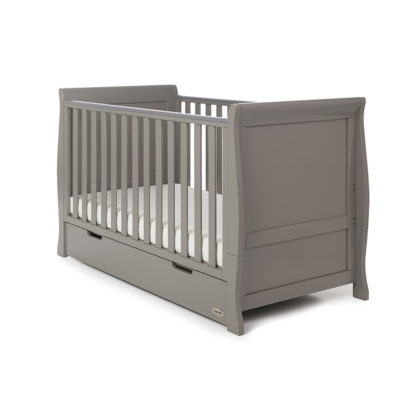 Obaby Stamford Classic Sleigh Cot Bed - Taupe Grey