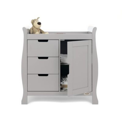 Obaby Stamford Sleigh Changing Unit - Warm Grey 2