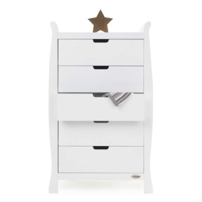 Obaby Stamford Sleigh Tall Chest of Drawers - White 3