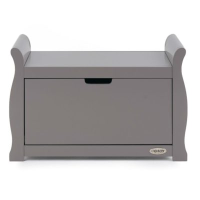 Obaby Stamford Sleigh Toy Box - Taupe Grey