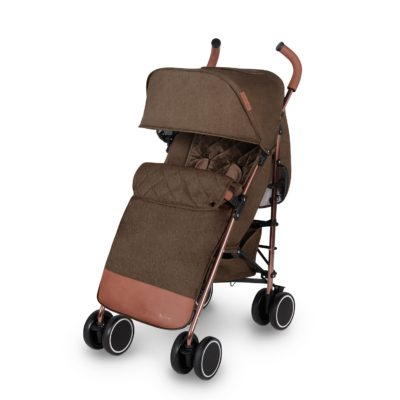 ickle bubba discovery max stroller khaki on rose gold