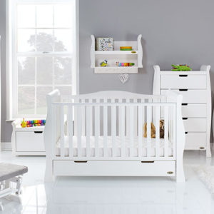 obaby stamford luxe 7 piece nursery room set builder in white