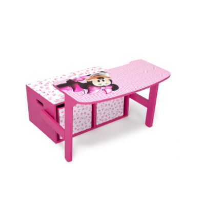 Delta Children Disney Minnie Mouse Convertible Desk and bench1