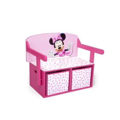 Delta Children Disney Minnie Mouse Convertible Desk and bench2