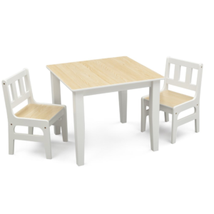Delta Children Natural Table and Chair Set
