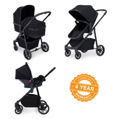 ickle bubba moon 3 in 1 travel system black