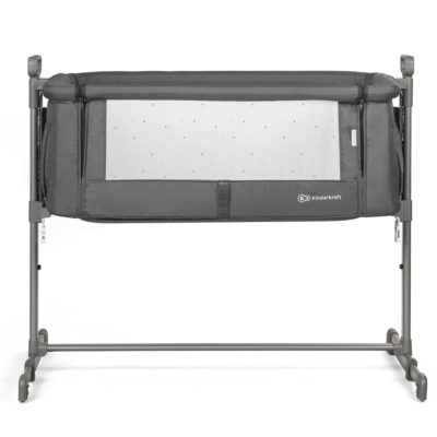 Kinderkraft Neste Bedside Crib (Dark Grey)