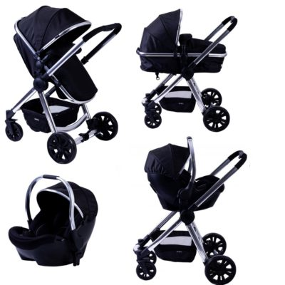 red kite push me fusion 3 in 1 travel system onyx black