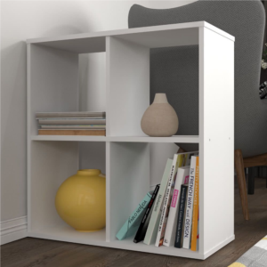 Kudl-Home-Smart-4-Cubic-Section-Shelving-Unit-White